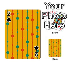 Yellow, green and red pattern Playing Cards 54 Designs