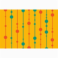 Yellow, green and red pattern Collage Prints
