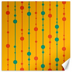 Yellow, green and red pattern Canvas 16  x 16