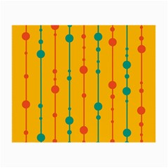 Yellow, green and red pattern Small Glasses Cloth (2-Side)