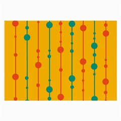 Yellow, green and red pattern Large Glasses Cloth