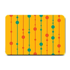 Yellow, green and red pattern Small Doormat