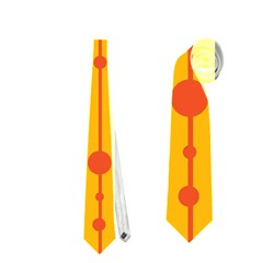 Yellow, green and red pattern Neckties (One Side)