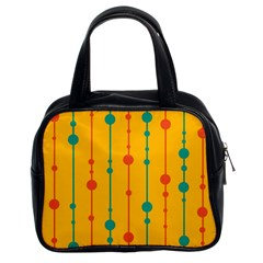 Yellow, green and red pattern Classic Handbags (2 Sides)