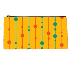 Yellow, green and red pattern Pencil Cases