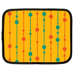 Yellow, green and red pattern Netbook Case (XXL)