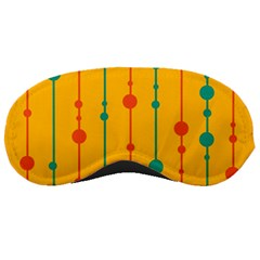 Yellow, green and red pattern Sleeping Masks