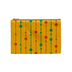 Yellow, green and red pattern Cosmetic Bag (Medium)