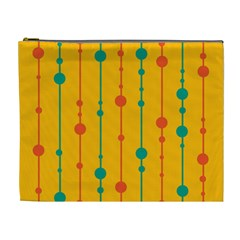 Yellow, green and red pattern Cosmetic Bag (XL)