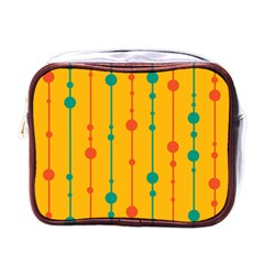 Yellow, green and red pattern Mini Toiletries Bags