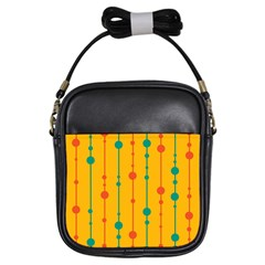 Yellow, green and red pattern Girls Sling Bags