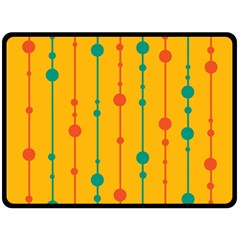 Yellow, green and red pattern Fleece Blanket (Large)