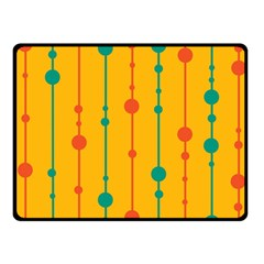Yellow, Green And Red Pattern Fleece Blanket (small)