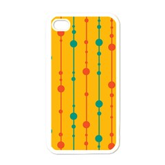 Yellow, green and red pattern Apple iPhone 4 Case (White)