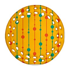 Yellow, green and red pattern Ornament (Round Filigree)