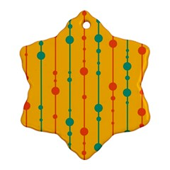 Yellow, green and red pattern Ornament (Snowflake)