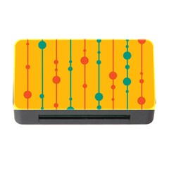 Yellow, green and red pattern Memory Card Reader with CF