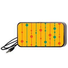 Yellow, green and red pattern Portable Speaker (Black)