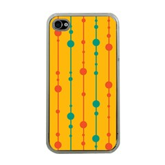 Yellow, green and red pattern Apple iPhone 4 Case (Clear)