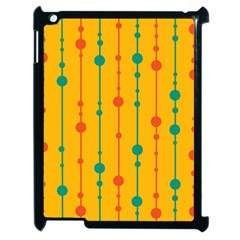 Yellow, Green And Red Pattern Apple Ipad 2 Case (black)