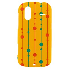 Yellow, green and red pattern HTC Amaze 4G Hardshell Case