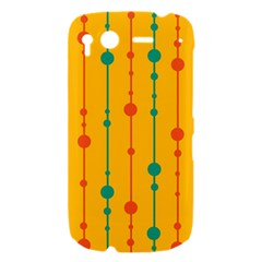 Yellow, green and red pattern HTC Desire S Hardshell Case