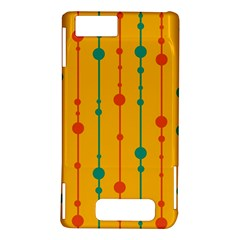 Yellow, green and red pattern Motorola DROID X2