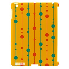 Yellow, green and red pattern Apple iPad 3/4 Hardshell Case (Compatible with Smart Cover)
