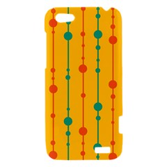 Yellow, green and red pattern HTC One V Hardshell Case