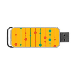 Yellow, green and red pattern Portable USB Flash (One Side)