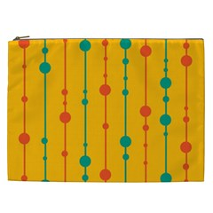 Yellow, green and red pattern Cosmetic Bag (XXL)