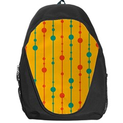 Yellow, green and red pattern Backpack Bag