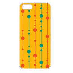 Yellow, green and red pattern Apple iPhone 5 Seamless Case (White)
