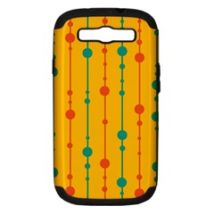 Yellow, green and red pattern Samsung Galaxy S III Hardshell Case (PC+Silicone)