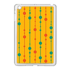 Yellow, green and red pattern Apple iPad Mini Case (White)
