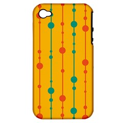 Yellow, Green And Red Pattern Apple Iphone 4/4s Hardshell Case (pc+silicone)