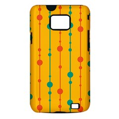 Yellow, green and red pattern Samsung Galaxy S II i9100 Hardshell Case (PC+Silicone)