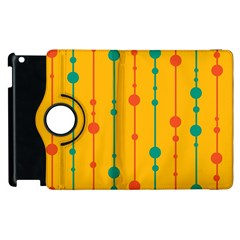 Yellow, Green And Red Pattern Apple Ipad 3/4 Flip 360 Case