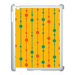 Yellow, green and red pattern Apple iPad 3/4 Case (White)