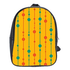 Yellow, green and red pattern School Bags (XL)