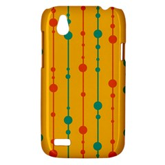 Yellow, green and red pattern HTC Desire V (T328W) Hardshell Case