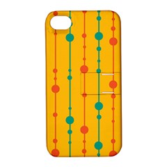 Yellow, green and red pattern Apple iPhone 4/4S Hardshell Case with Stand