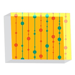 Yellow, green and red pattern 5 x 7  Acrylic Photo Blocks