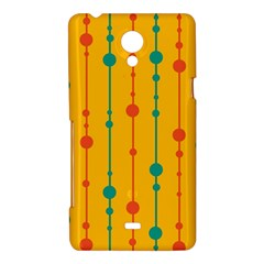Yellow, green and red pattern Sony Xperia T