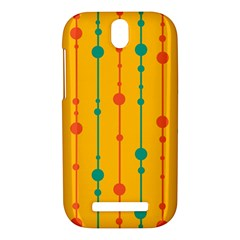 Yellow, green and red pattern HTC One SV Hardshell Case