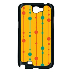 Yellow, green and red pattern Samsung Galaxy Note 2 Case (Black)