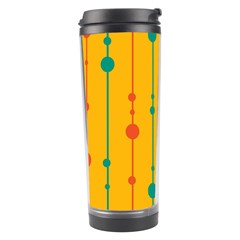 Yellow, green and red pattern Travel Tumbler