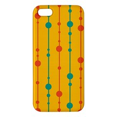 Yellow, green and red pattern iPhone 5S/ SE Premium Hardshell Case