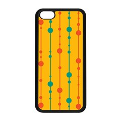 Yellow, green and red pattern Apple iPhone 5C Seamless Case (Black)
