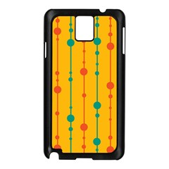 Yellow, green and red pattern Samsung Galaxy Note 3 N9005 Case (Black)